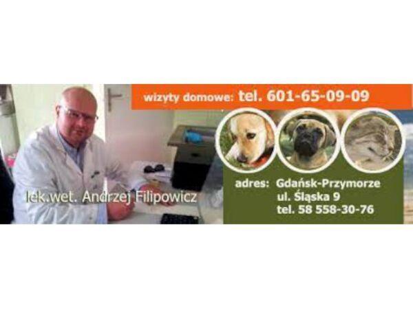 GABINET WETERYNARYJNY LEK.WET. ANDRZEJ FILIPOWICZ - Logo lecznicy - WORLDPETNET