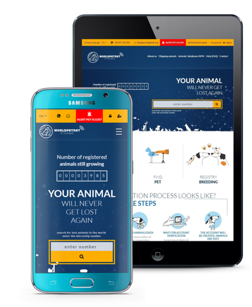 Mobile application – WORLDPETNET