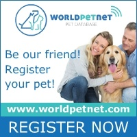 Banner Register your pet at World Pet Net
